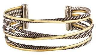 David Yurman Two-Tone Four Row Crossover Bracelet