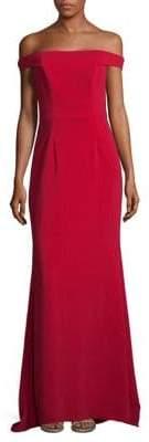 Carmen Marc Valvo Off-The-Shoulder Sheath Dress