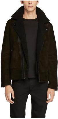 Shearling moto jacket $2,395 thestylecure.com