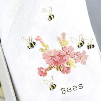 Tamielle Lady's Handkerchief Bees And Pink Flowers