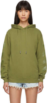 Off-White Green Diag Hoodie