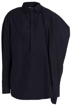 Chalayan Draped Cotton-Poplin Shirt