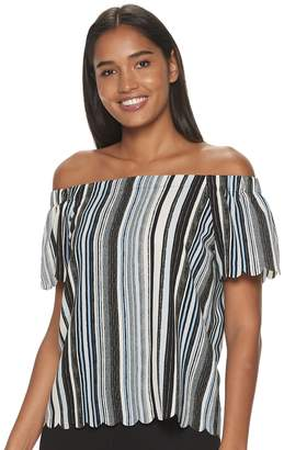 Elle Women's Scallop Off The Shoulder Top