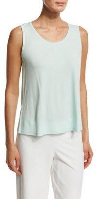 Eileen Fisher Scoop-Neck Stretch-Silk Tank, Aurora, Plus Size $108 thestylecure.com