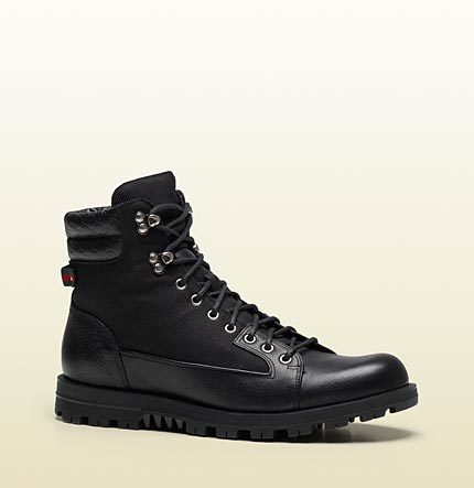 Gucci Trek Boot With Signature Web Detail