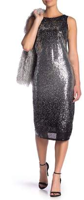 Marina Ombre Sequin Midi Dress
