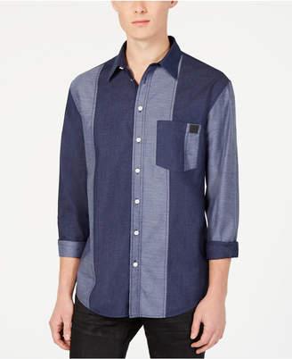 DKNY Men Patchwork Woven Shirt