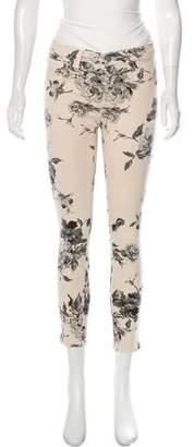 J Brand Capri Floral Print Skinny Pants