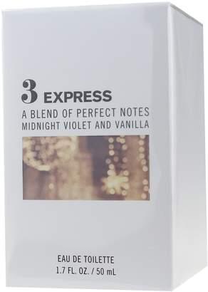 Express 3 Midnight Violet And Vanilla Eau De Toilette 1.7Oz New In Box