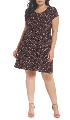 Leota Brittany Print Wrap Tie Dress
