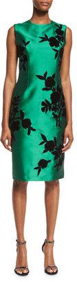 Sachin & Babi Noir Sleeveless Embroidered Cocktail Dress, Emerald $895 thestylecure.com