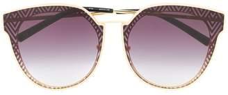 34023c9006b2 Linda Farrow patterned gradient cat eye sunglasses