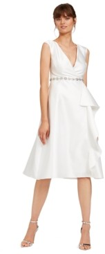 Adrianna Papell Tea-Length Mikado Dress
