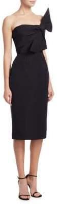 Catherine Regehr Strapless Bow Silk Dress