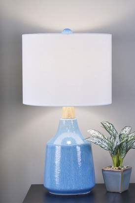 J. Hunt Casey Speckled Ceramic and Wood Table Lamp