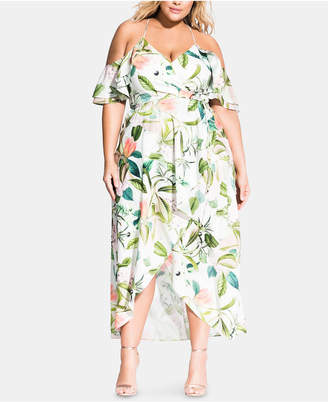 City Chic Plus Size Fresh Floral Maxi Dress