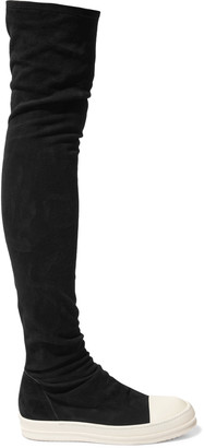 Rick Owens Suede over-the-knee boots $1,958 thestylecure.com