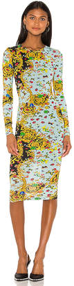 Versace Long Sleeve Lady Dress