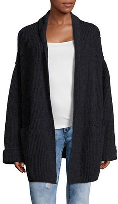 Free People Low Tide Ribbed Cardigan $128 thestylecure.com