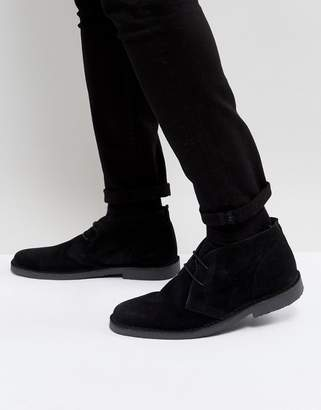 Pier 1 Imports Suede Desert Boots In Black