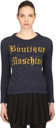 Moschino Logo Jacquard Wool Knit Sweater