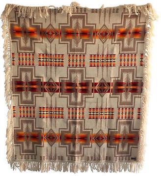 One Kings Lane Vintage Pendleton Double-Sided Blanket with Fringe - Luis Rodriquez