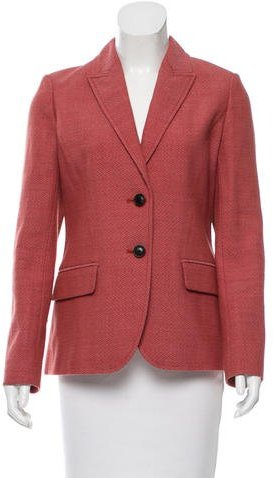 Tory Burch Tory Burch Leather-Paneled Wool Blazer