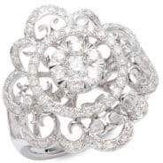 Effy Diamond and 14K White Gold Ring