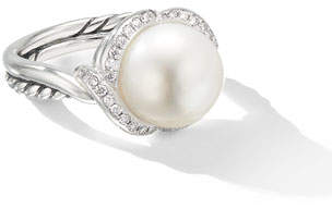 1a7c94dd0c599 David Yurman Cable Pearl Ring With Diamonds - ShopStyle