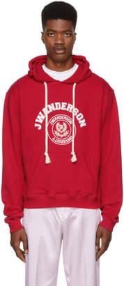 J.W.Anderson Red University Logo Hoodie