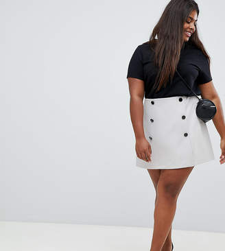 Asos (エイソス) - ASOS Curve ASOS DESIGN Curve double breasted mini skirt