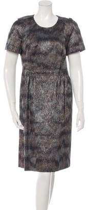 Burberry Brocade Sheath Dress