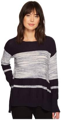 Vince Camuto Long Sleeve Blocked Space Dye Stripe Sweater Women's Sweater