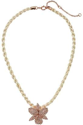 Nina Large Orchid Pave Necklace Necklace