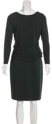 Akris Punto Long Sleeve Knee-Length Dress