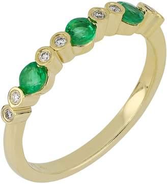 Bony Levy Diamond & Emerald Ring
