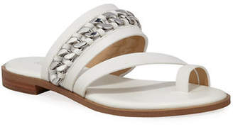 2924d41c6d00 MICHAEL Michael Kors Bergen Flat Leather Chain Sandals