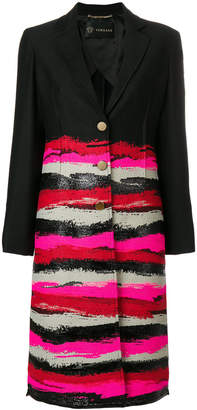 Versace single-breasted printed coat