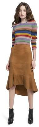 Alice + Olivia Kina Suede Pencil Skirt