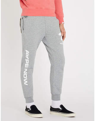 Aape Now cotton-jersey jogging bottoms