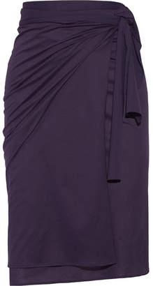 Eres Zephyr Tanagra Cotton-jersey Pareo - Dark purple