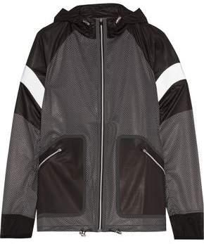 Monreal London Wave Paneled Polka-Dot Shell Jacket
