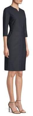 Piazza Sempione Wool Blend Sheath Dress