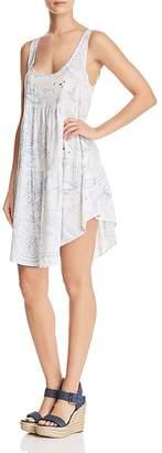 Aqua Paisley Print Tiered Dress - 100% Exclusive