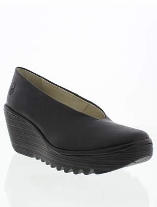 Fly London Yaz Leather Wedge Shoe