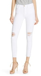 Frame Le High Ripped Skinny Jeans
