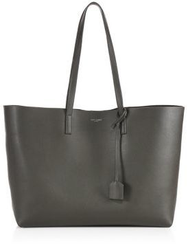 Saint Laurent Large Leather Shopping Tote $995 thestylecure.com