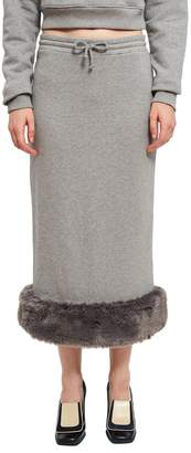 Opening Ceremony Fur Jersey Skirt