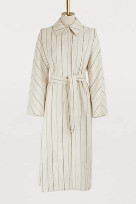 Vanessa Seward Striped Ginger coat