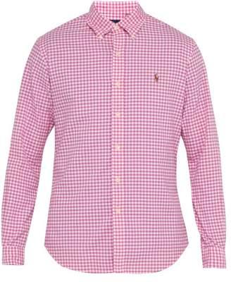 Polo Ralph Lauren Slim Fit Gingham Cotton Shirt - Mens - Pink Multi